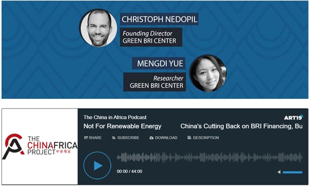 Podcast China Africa Project on BRI investment