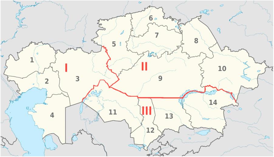 Power Generation Zones in Kazakhstan