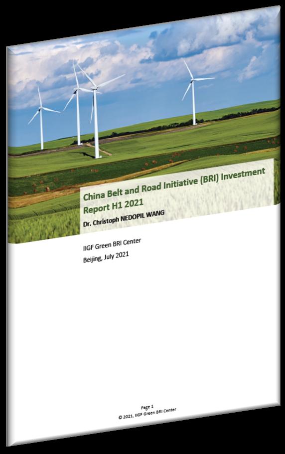 China Belt and Road Initiative BRI Investment Report H1 2021